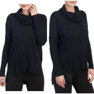 Joan Vass Cowl Neck Tunic Sweater Blouse